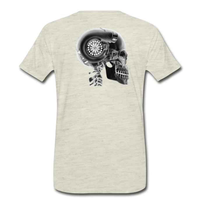 KC Skull Turbo T-Shirt - heather oatmeal
