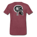 KC Skull Turbo T-Shirt - heather burgundy