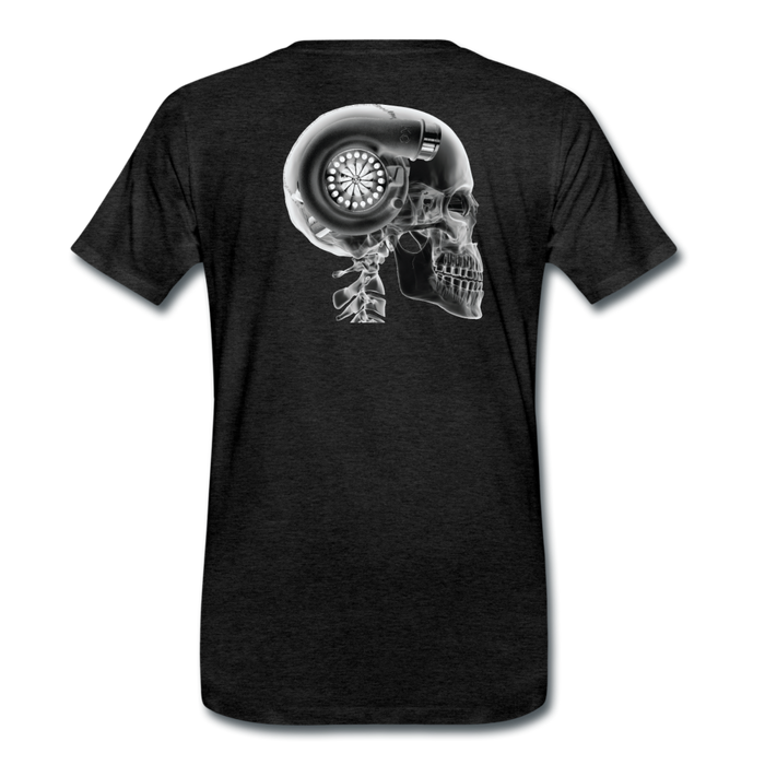 KC Skull Turbo T-Shirt - charcoal gray