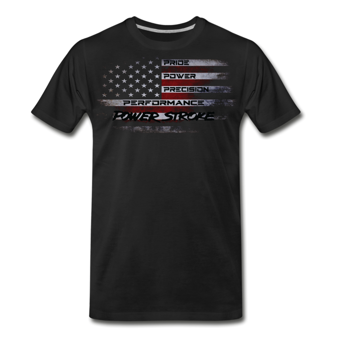 KC Powerstroke Flag T-Shirt - black