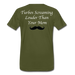 KC Louder Than Your Mom T-Shirt - olive green