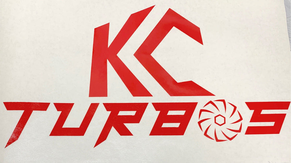 KC TURBOS Vinyl decal (RED)