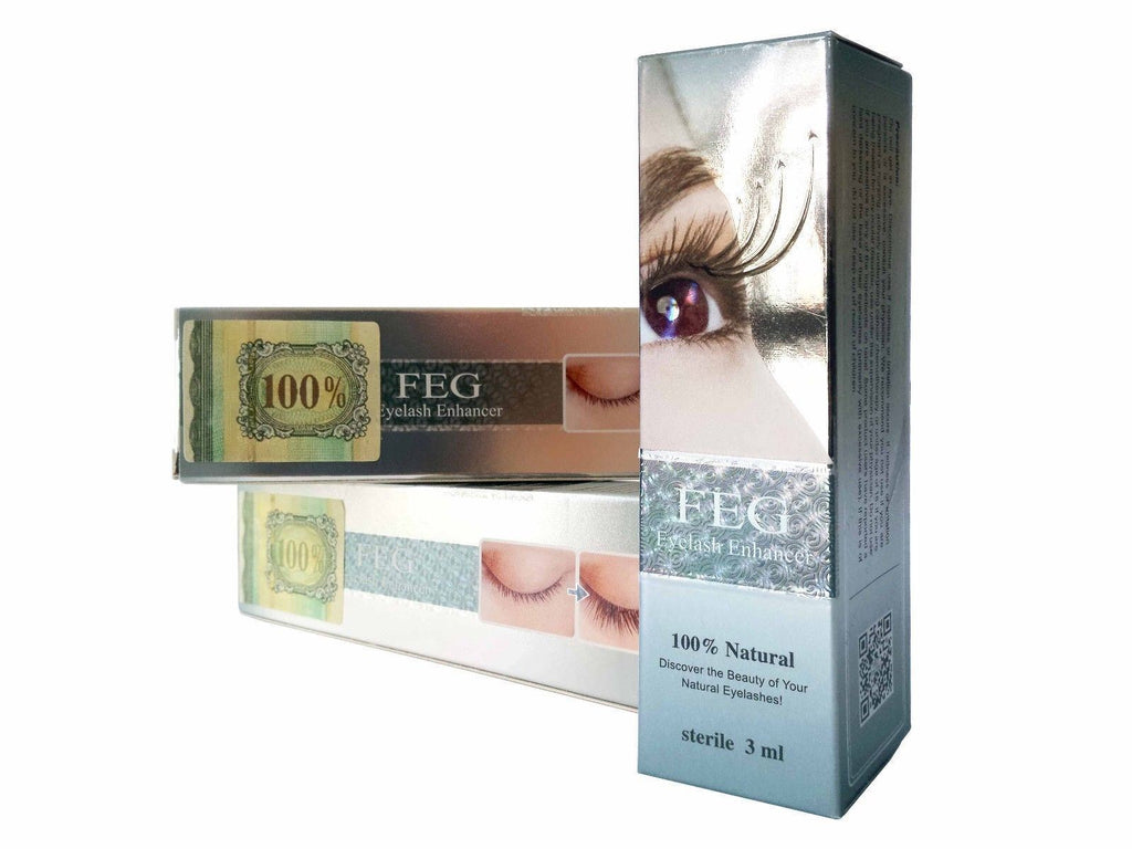 FEG AUTHENTIC (2PACK) Eyelash Enhancer & Rapid Growth Serum - 100% Natural 3ml