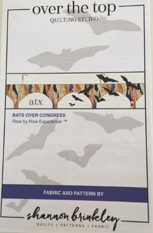 """Bats Over Congress"" 2016 Row-by-Row Pattern"