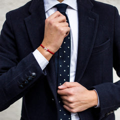 Burgundy red bracelet men inspiration