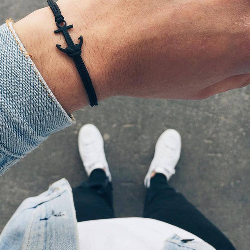 Coal Spaceblack Anchor Bracelet inspiration men
