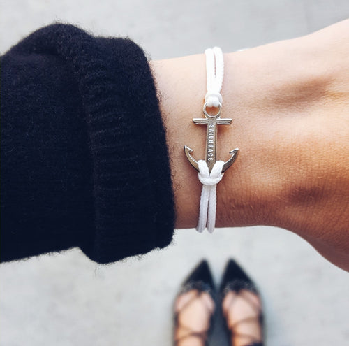 Snow White Anchor Bracelet