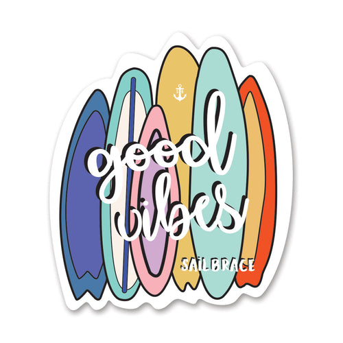 GOOD VIBES SURFS STICKER