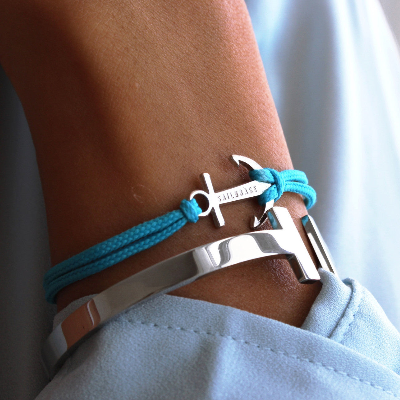 Aqua blue anchor bracelet inspiration fb-feed