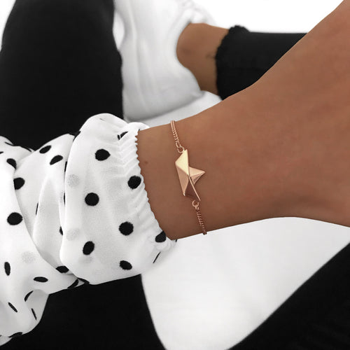 Papership Bracelet Rose Gold plated