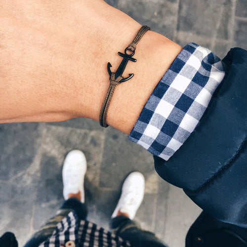 Camo green anchor bracelet