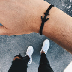 Coal Spaceblack Anchor Bracelet