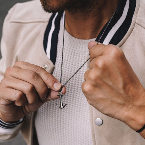 Men's Anchor Necklace inspiration men