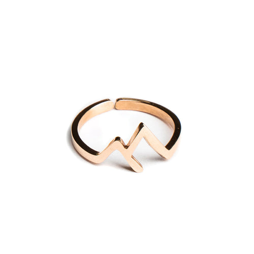 Rose Gold Mountain Ring