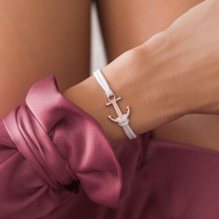 NUDE Rose Gold Anchor Bracelet inspiration women