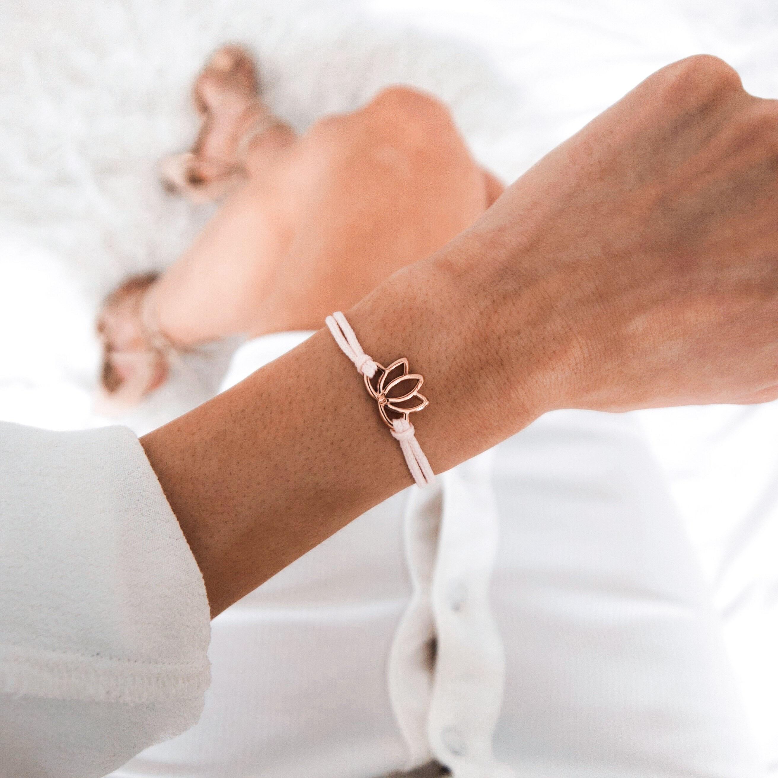 Rose Gold Lotus Nude Bracelet