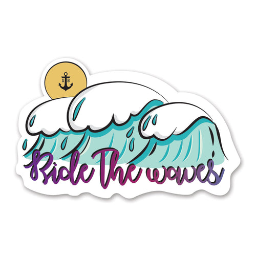 RIDE THE WAVES STICKER