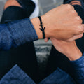 Black anchor bracelet inspiration men