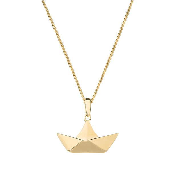 Papership Necklace Gold plated