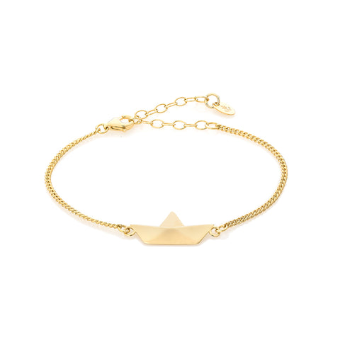 Golden Touch White Anchor Bracelet