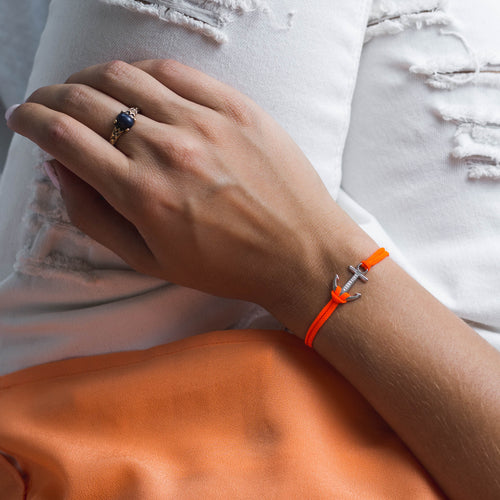 Orange Neon Anchor Bracelet
