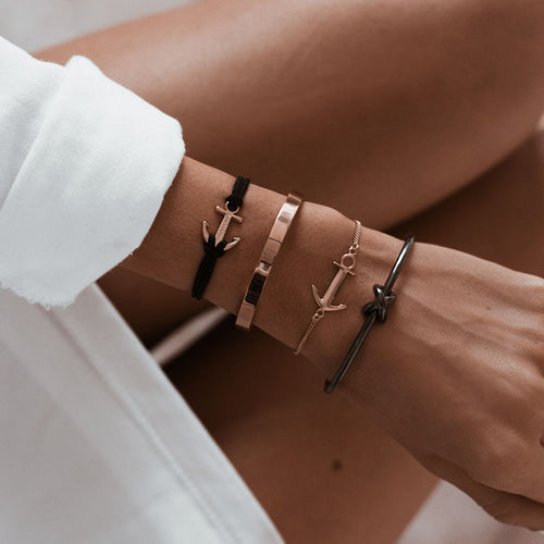 Anchor bracelet rose gold inspiration