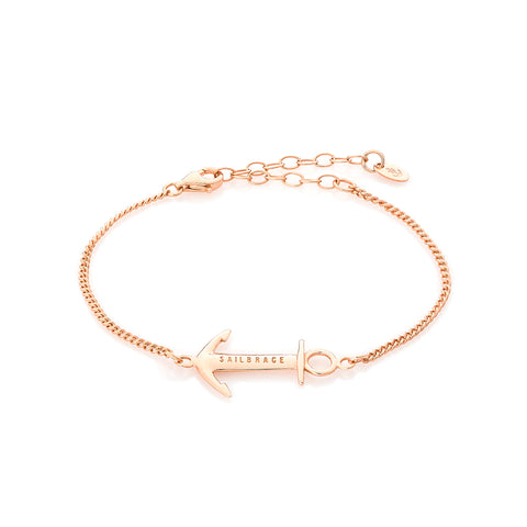 Rose Gold Grey Anchor Bracelet