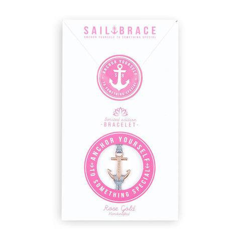 Soft Pink Anchor Bracelet
