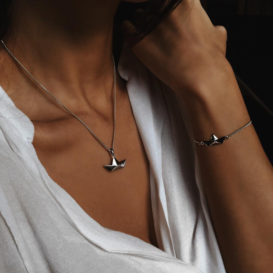 Papership Necklace Silver inspiration women