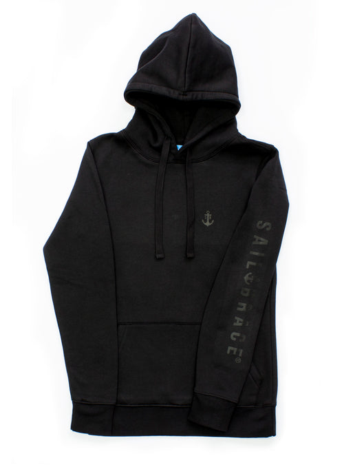 Women's All Black Sailbrace Hoodie