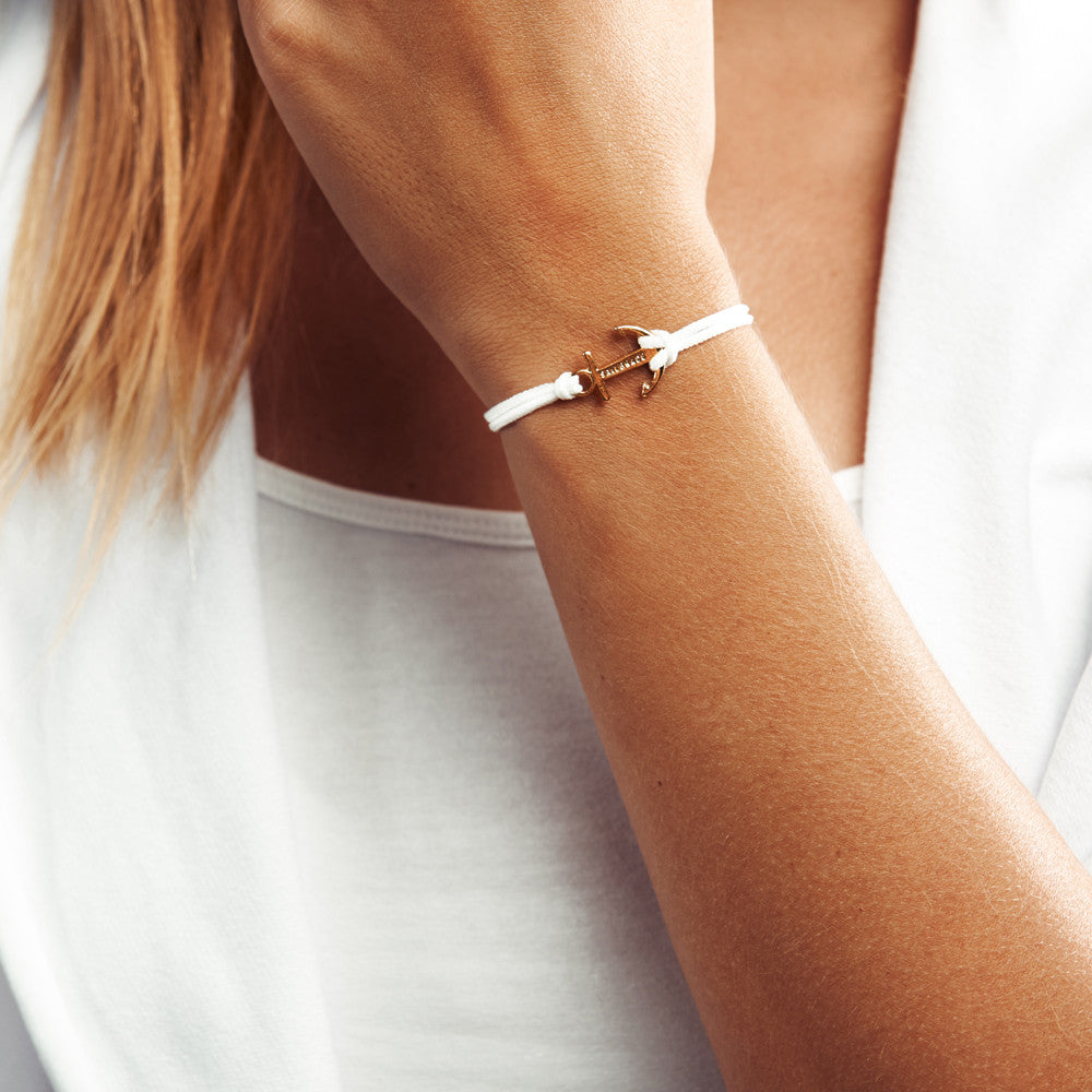 Golden Touch White Anchor Bracelet inspiration women