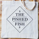 The Pished Fish Tote bag for carrying lots of booze infused smoked salmon