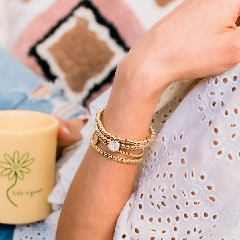 Blooming Lotus Jewelry Beaded Gemstone Bracelets Luna Crescent Moon