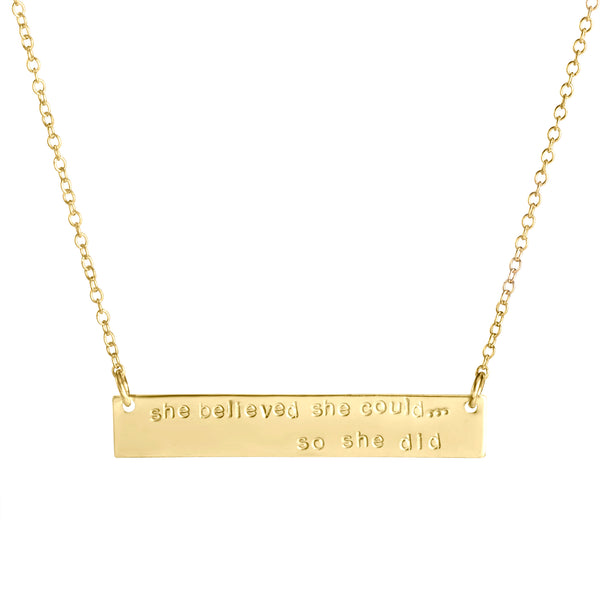 She Believed She Could ... So She Did (gold) - Blooming Lotus Jewelry