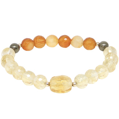 Abundance Gemstone Bracelet - Citrine - Blooming Lotus Jewelry