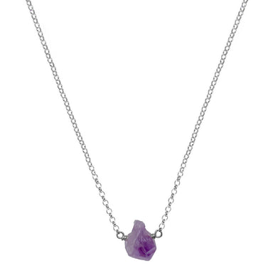 Amethyst Nugget Necklace | Sterling