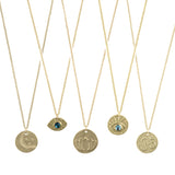 Moon & Stars (solid 14K gold) - Blooming Lotus Jewelry