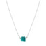 Raw Apatite Crystal Necklace Sterling Silver Chain Blooming Lotus Jewelry