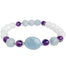 Balance and Harmony Gemstone Bracelet - Moonstone - Aquamarine - Blooming Lotus Jewelry