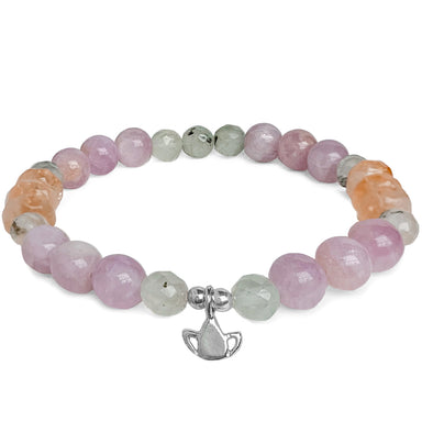 Begin Again Lotus Gemstone Bracelet - Kunzite - Blooming Lotus Jewelry