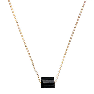 Black Tourmaline Necklace | Gold