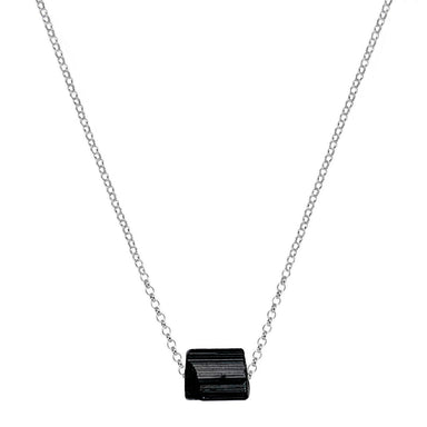 Black Tourmaline Necklace | Sterling