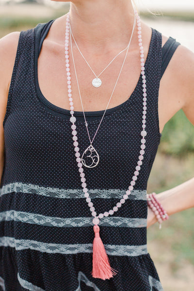I Am Love Mala (Heart Chakra) - Blooming Lotus Jewelry