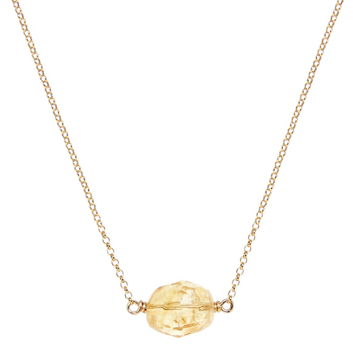 Citrine Crystal Necklace - gold - Blooming Lotus Jewelry