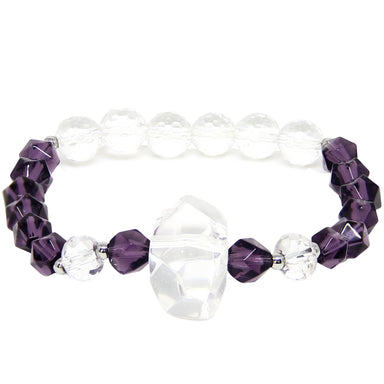 Clarity Bracelet | Clear Quartz, Amethyst