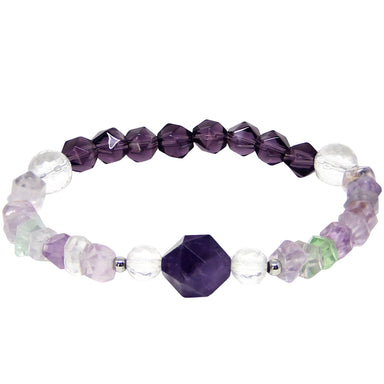 Cleanse Your Soul Bracelet | Amethyst, Fluorite, Clear Quartz
