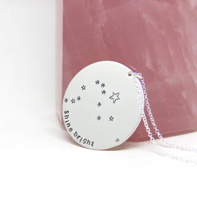 Zodiac Constellation Coin + Mantra Necklace | Sterling