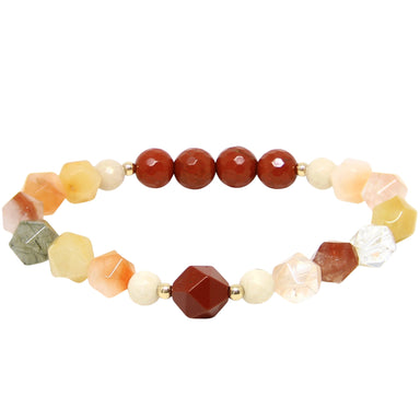 Down to Earth Bracelet | Jasper, Rutilated Quartz, Riverstone