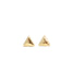 Tiny Triangle Stud Earrings gold - Blooming Lotus Jewelry