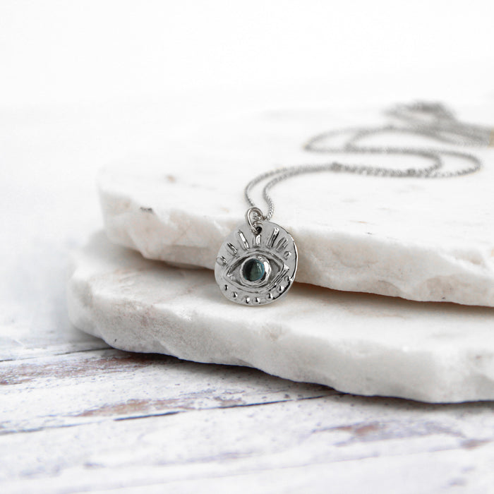 Eye of Protection Necklace | Sterling